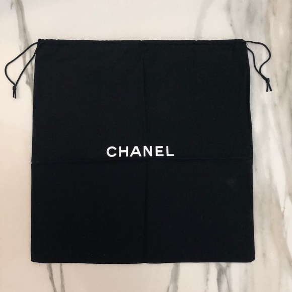 f4c2585c9902ac CHANEL Handbags - Authentic Chanel XL Drawstring Storage Dust Bag
